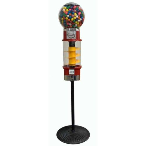 Spin /& Whirl Gumball and Superball Spiral Vending Machine On Stand