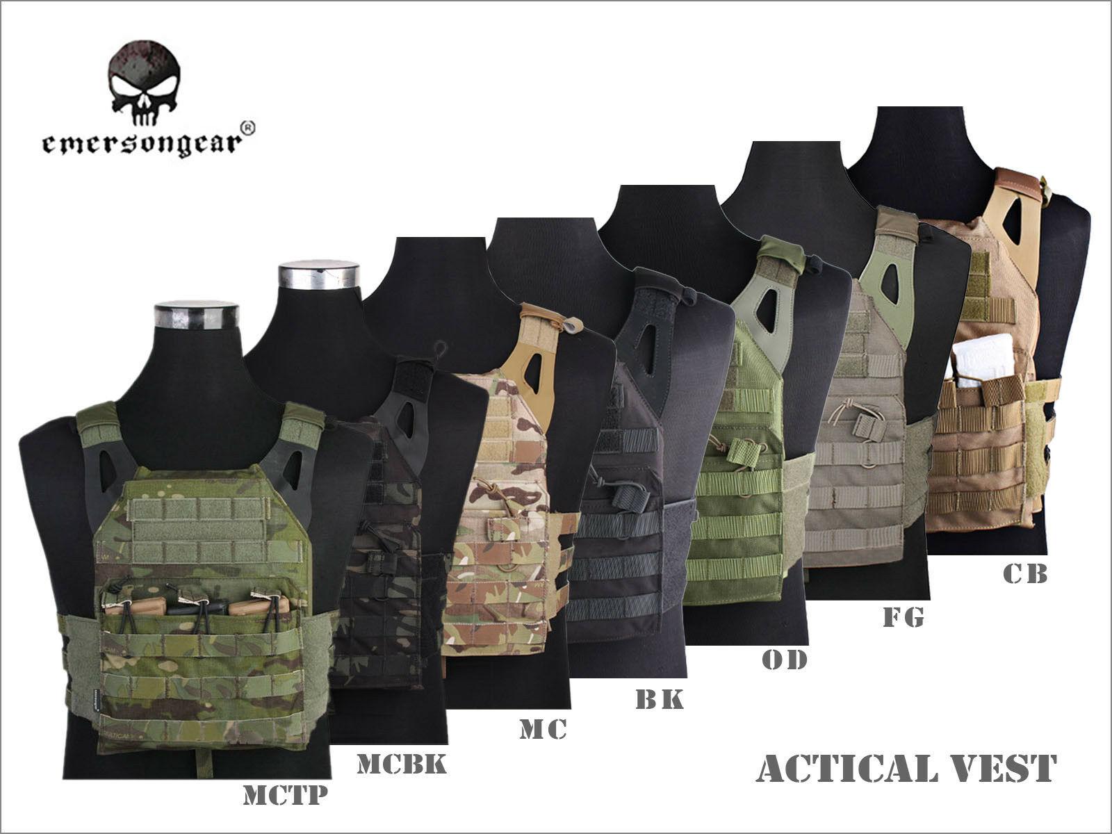 EmersonGear Jumper Plate Carrier  Vest Airsoft Tactical Hunting Gear Camo EM7344