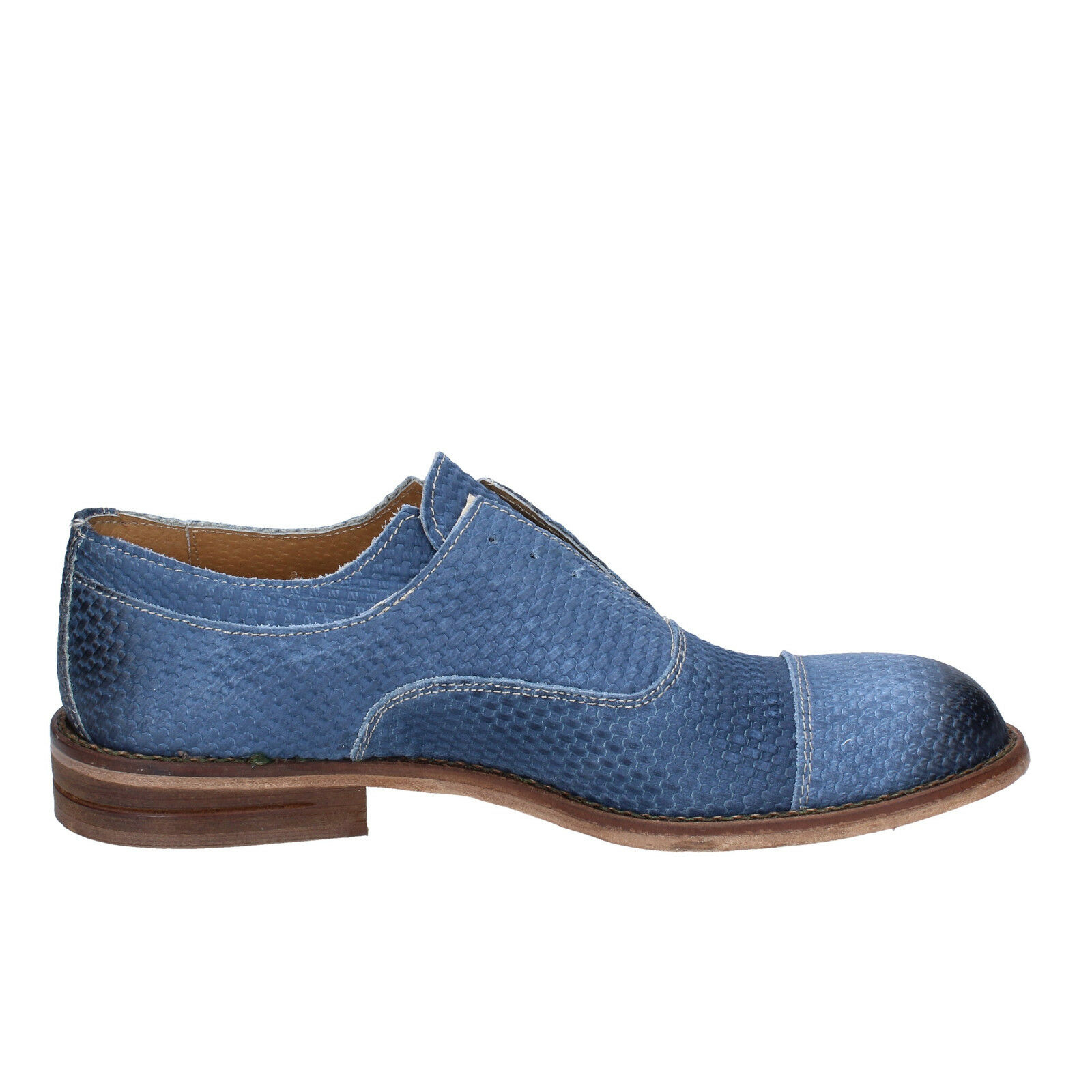 uomo +2 MADE IN ITALY 43 UE ELEGANTE BLU NABUK bt700-43 29d974