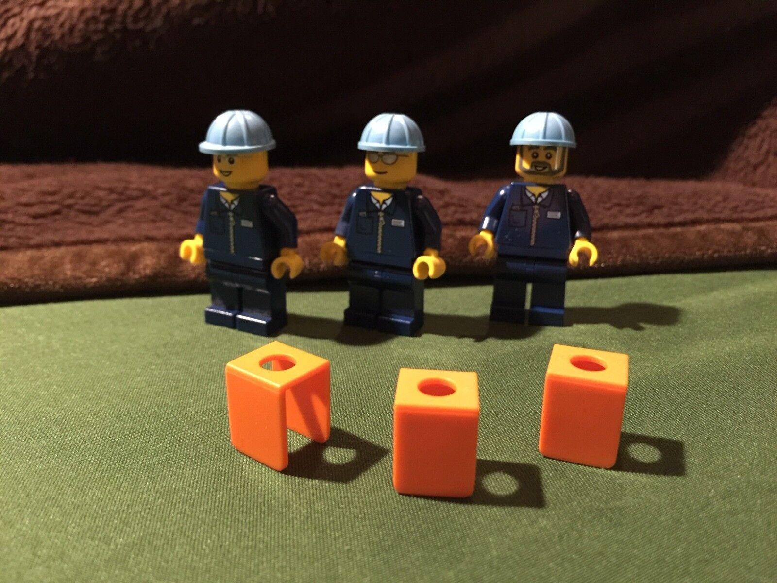 LEGO  10219 Maersk Train lavorouomo A SET of 3 Minicifras + Extra PARTS 2011  garanzia di credito