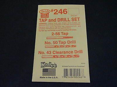 Tap 2-56 and Drills #50 and #43 Set Kadee #246