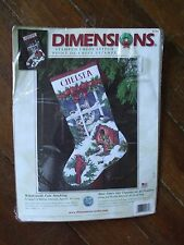 Dimensions Christmas Stocking Kit Cross Stitch Windowsill Pals Cat Cardinal Bird