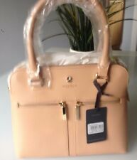 BNWT NEW RRP £220 MH5098 MODALU LEATHER PIPPA PEACH BEIGE GRAB SHOULDER BAG