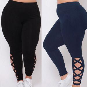 Talla-Grande-Mujer-Leggings-para-Dama-Gimnasio-Yoga-Deporte-Pantalones