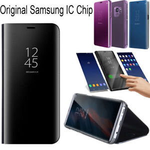 super popular 13d98 95a19 Details about Original Samsung Chip Galaxy S9 S8 S-View Smart Case Flip  Case Cover Stand USA