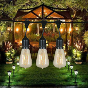 ST64 Vintage Edison Outdoor String Lights - 48 Foot String ...