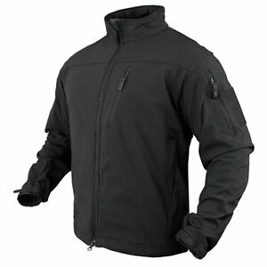 Condor 606-002 Phantom Soft Shell Breathable Waterproof Army Combat Jacket-Black
