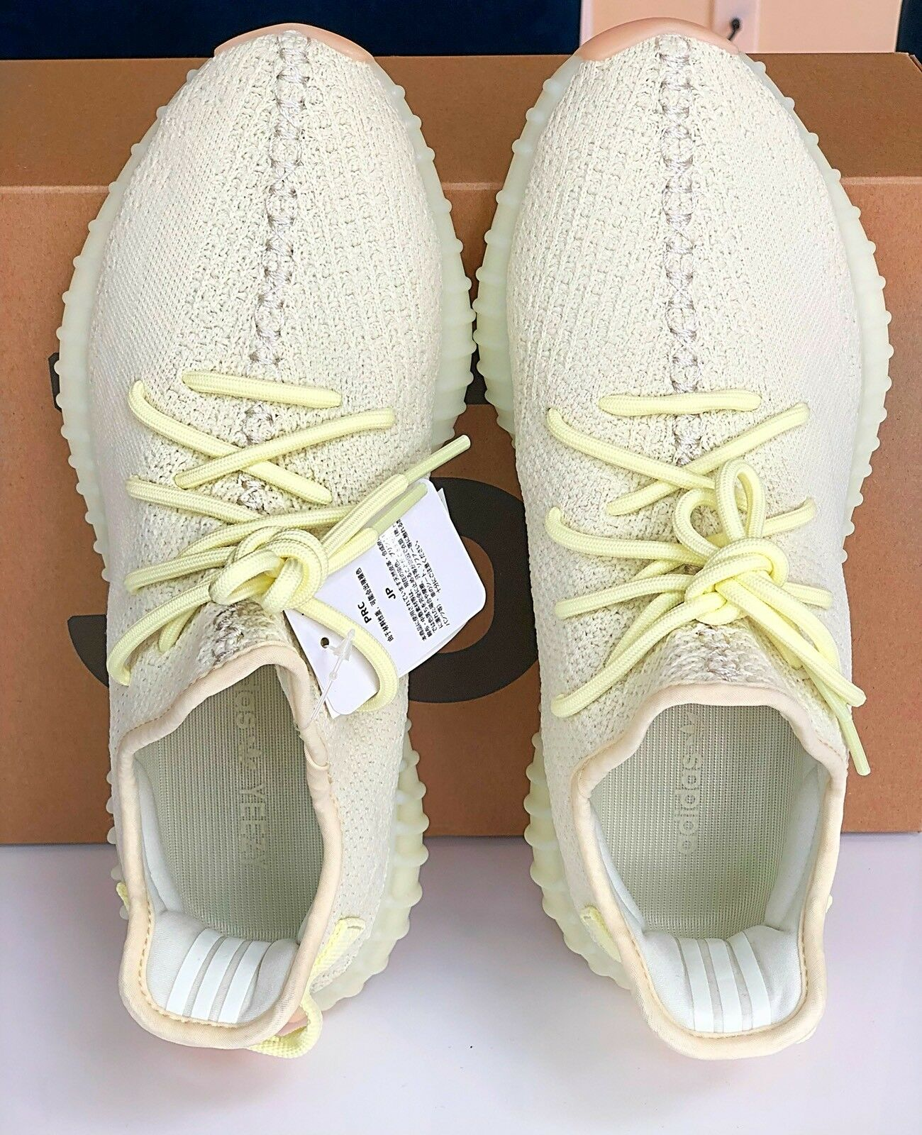 YEEZY BOOST 350 V2 BUTTER YELLOW SNEAKERS SHOES TRAINERS US 9.5 MENS