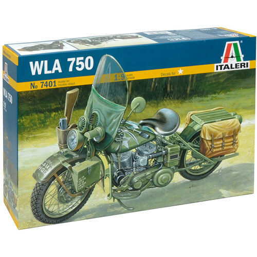 ITALERI US Army WWII Motorcycle 7401 1 9 Bike Model Kit