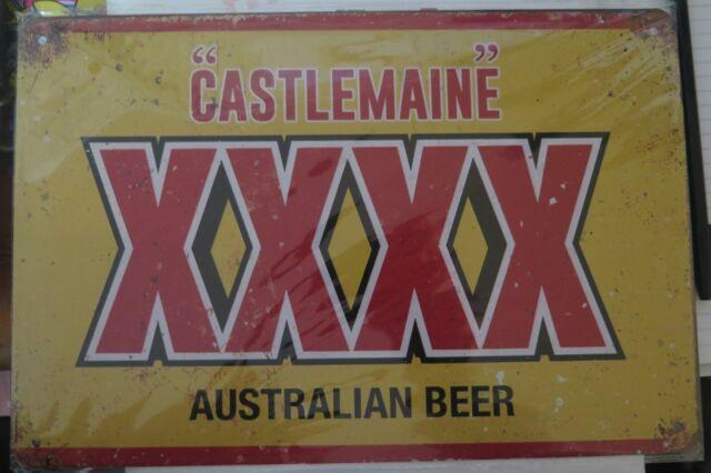 0XXXX AUSTRALIAN BEER METAL TIN SIGN man cave bar  retro style 30 by 20 cm