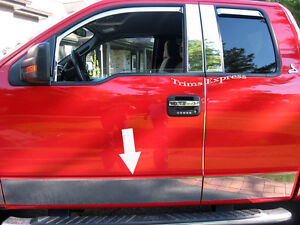 04-08-Ford-F-150-Super-Cab-5-5-039-Short-Bed-Rocker-Panel-Trim-Stainless-Steel-N-F