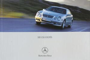 Mercedes-CLK-Coupe-Prospekt-1-01-brochure-2001-Auto-Broschuere-Autoprospekt