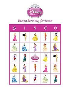 Image Is Loading Disney Princess Personalized Birthday Party Game Activity Bingo