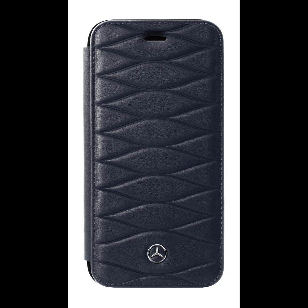 Mercedes Benz Huelle iPhone 7 Plus   iPhone 8 Plus Booktype Blau