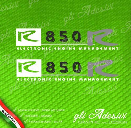 2 Adesivi Stickers Moto BMW R 850 R Bianco Nero e Grigio