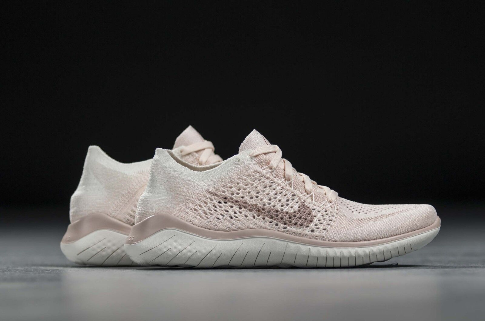 NEW WOMENS 9 NIKE FREE RN FLYKNIT 2018 RUNNING SHOES GUAVA ICE PINK 942839 track