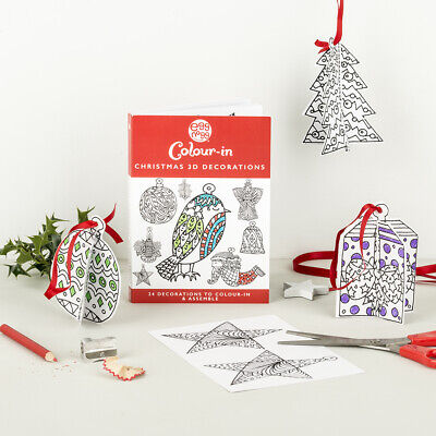 Eggnogg Colour In Make Your Own Christmas Tree Decorations Ebay