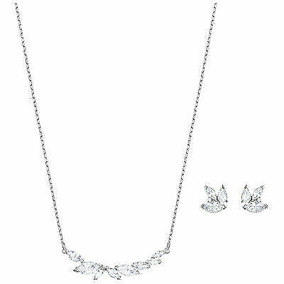 Louison Necklace Earring Set White Rhodium Plated 2018 Swarovski Jewelry 5419879 For Online Ebay