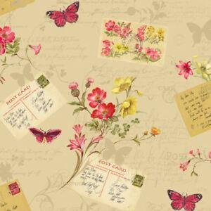 Sophie-Conran-Reflections-Cartes-Postales-Maison-Papier-Peint-Beige-Floral