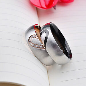 Couple Rings Valentines Day Gift Lovers Wedding Rings For Men And