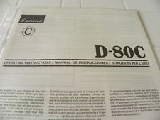 Sansui  D-80C Owner's Manual  Operating Instructions Istruzioni New