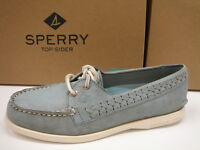 Sperry Top Sider Womens Boat Shoes A/o Quinn Ash Blue Size 8