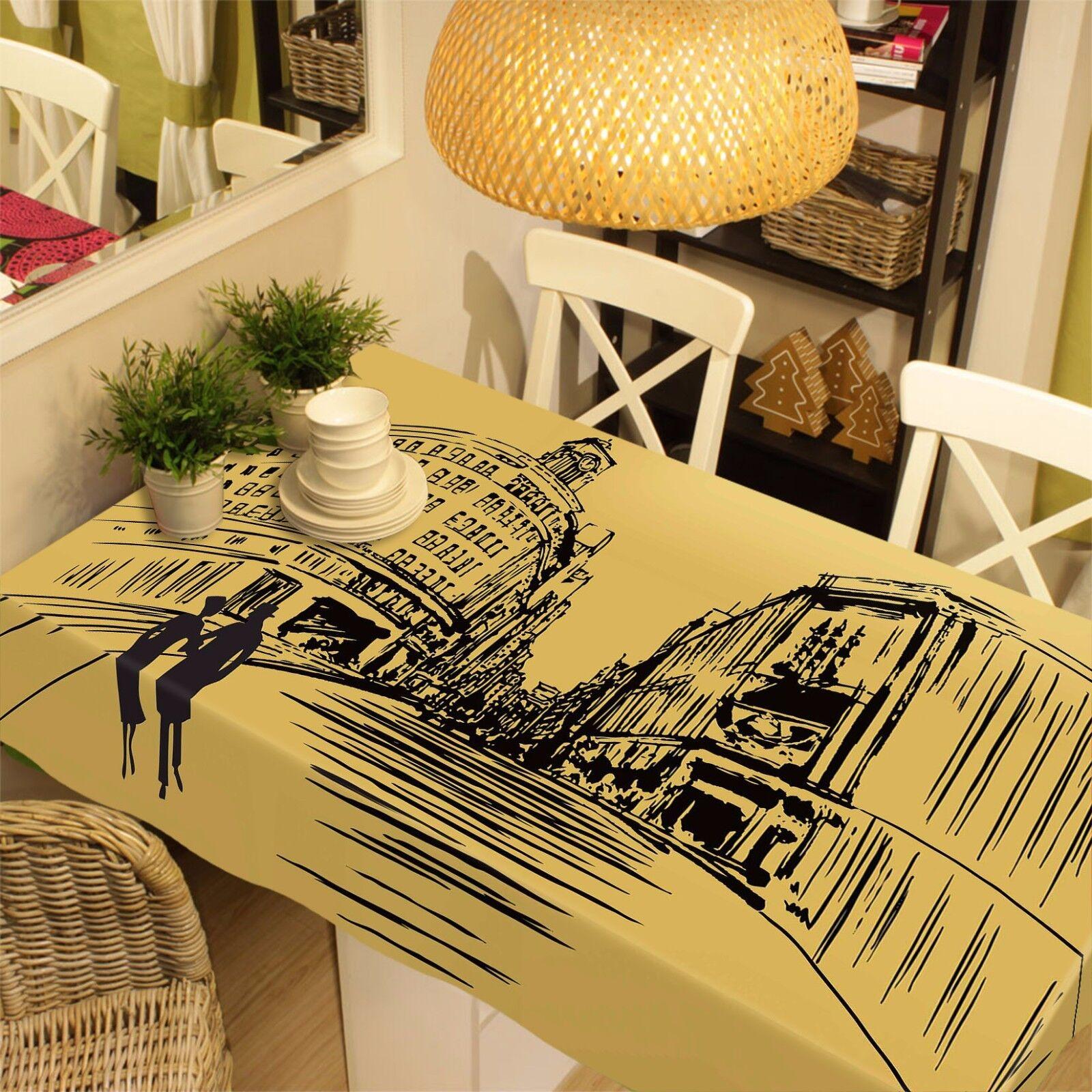3D Edifice Nappe Table Cover Cloth fête d'anniversaire AJ papier peint Royaume-Uni Citron