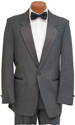 Men/'s Black Tuxedo Jacket Two Button with Satin Peak Lapels Wedding Prom Mason