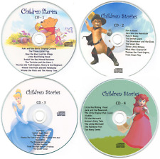 Childrens Bedtime Stories - 4 CD Set Free P&P Printed Cover Artwork