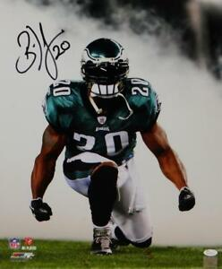 Brian-Dawkins-Autographed-Eagles-16x20-PF-Photo-Kneeling-in-Smoke-JSA-W-Auth-Bk