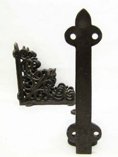 "Set of 4 Cast Iron Shelf Brackets New Antique-Style Rustic 5.5/"" x 5.5/"""