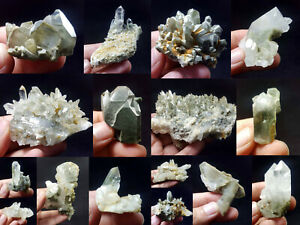 Natural-Stunning-Lot-of-Chlorite-Quartz-Crystals-Specimens-Pakistan-16Pcs-1-1kg