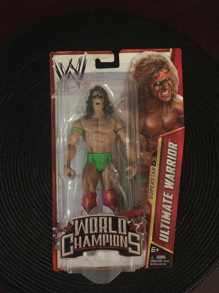 WWE WORLD CHAMPIONS Ultimate Warrior SUPERSTAR ACTION FIGURE Mattel 2013 NEW