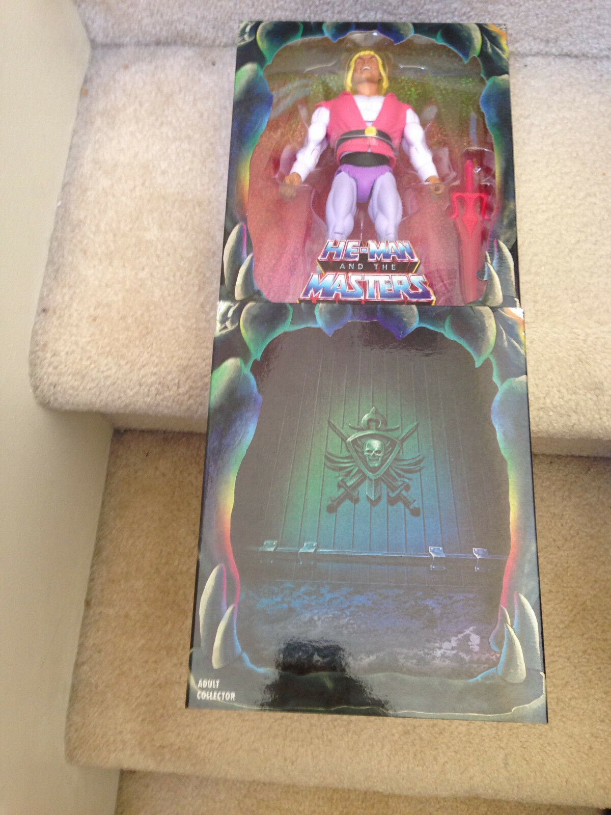 Super 7 SDCC 2018 He-man Masters of the Universe rire prince Adam Figure