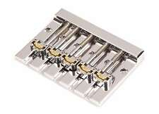Hipshot KickAss 5 String Bass Bridge Chrome Retrofits Fender Squier - 5K502C