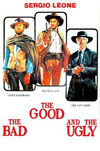"""1966 The Good the Bad and the Ugly Movie Silk Fabric Poster 11/""""x17/"""""""