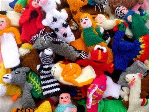 Lot 500 Finger Puppets Zoo-Handmade - Hand Knit Toy