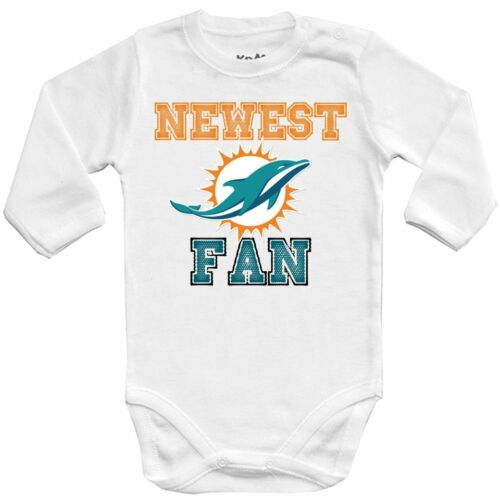 Baby bodysuit Newest fan Miami Dolphins NFL football jersey NFL outfit