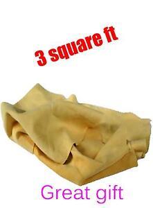 3-piedi-quadrati-genuino-morbido-pelle-di-camoscio-daino-Shamy-disapannare