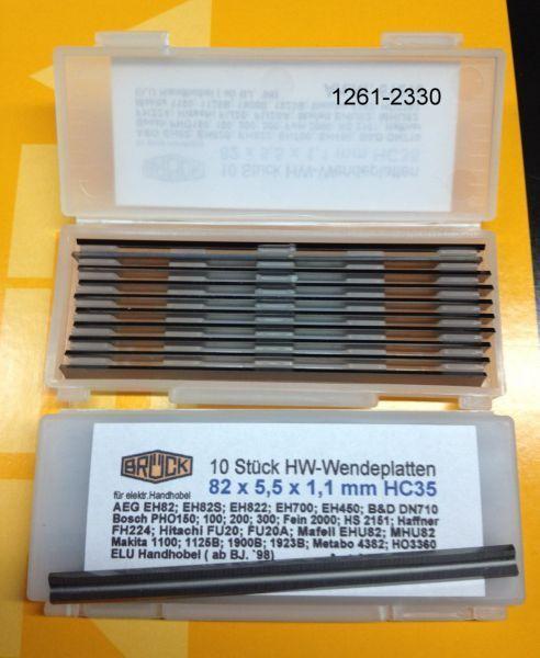 10 Stck Hobelmesser HM - Wendemesser 82,0 x 5,5 x1,1 mm 1A Profiqualität