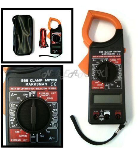 Multimètre numérique 1000A ammeter voltmeter Pince testeur de résistance instulation