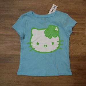 Girls-Old-navy-Hello-Kitty-Sky-blue-St-Patrick-039-s-shirt-size-12-18-months-new
