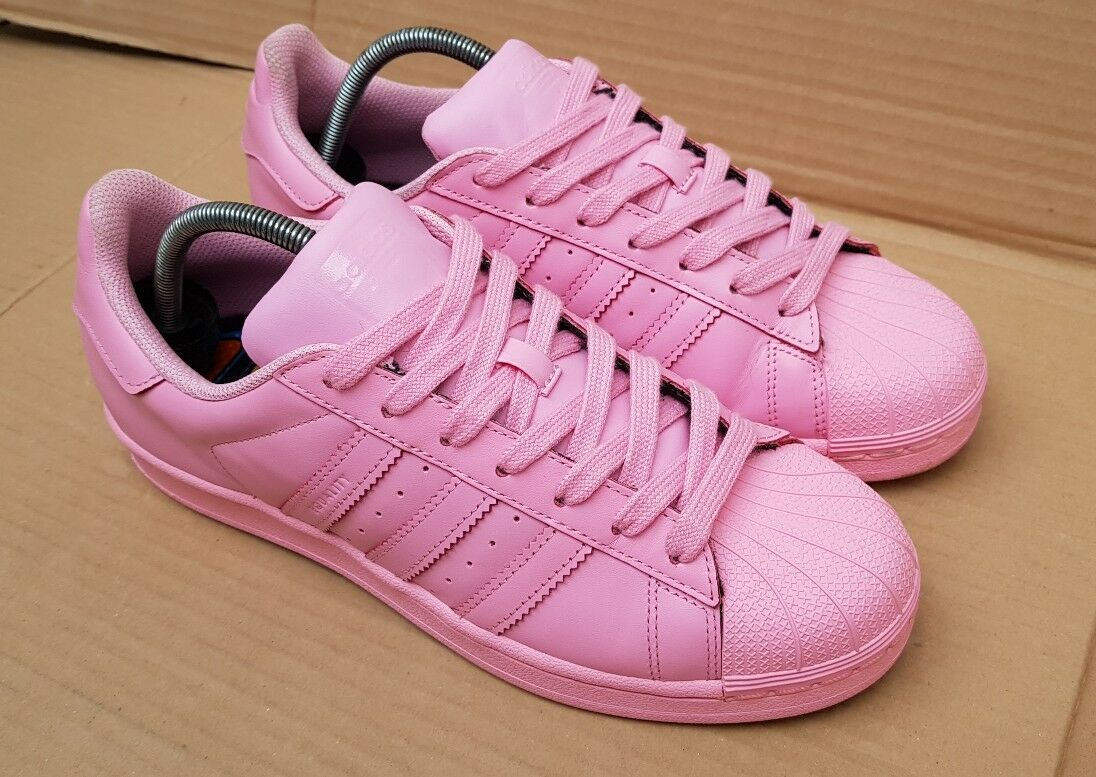 GORGEOUS ADIDAS SUPERSTAR PHARRELL WILLIAMS SUPERCOLORS TRAINERS SIZE 6 UK PINK