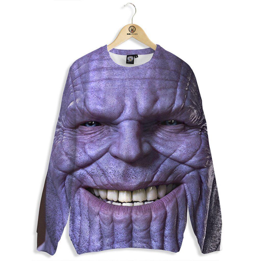 NEW Beloved Shirts THANOS CREW SWEATSHIRT SMALL-3XLARGE CUSTOM MADE IN THE USA