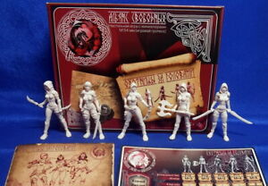 Alliance-of-Free-Bounty-Hunters-5-Female-Plastic-Toy-Soldiers-54mm-Rare-Figures