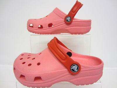 Girls Crocs Pink Light Weight Slip On Shoes Cayman