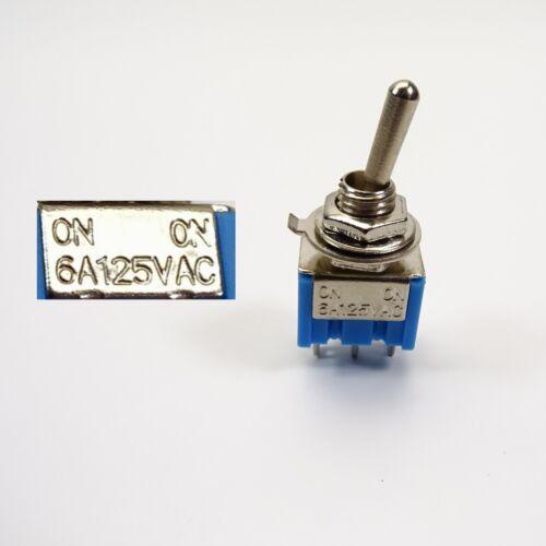 Miniatur Kippschalter 6A 125 VAC 2 Positionen Ein//Aus Ein//Ein 3-polig  C2915