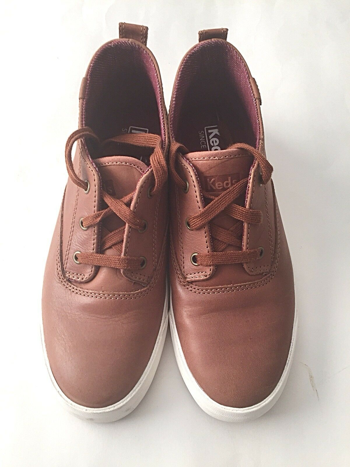 KEDS Woman Boot Size 8 Brown  Leather