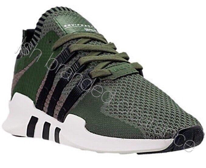 Hombre PK Adidas EQT Support ADV PK Hombre Trainers Khaki Prime Knit Verde Negro 9af0e7