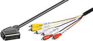 Audio-Video-Kabel-Scartstecker-gt-6x-Cinchstecker-1-5-m